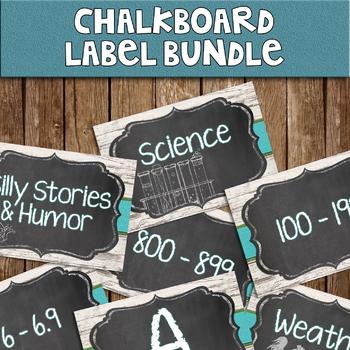 Chalkboard Library Labels - BUNDLE