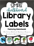 Chalkboard Library Labels feat. Melonheadz with correspond