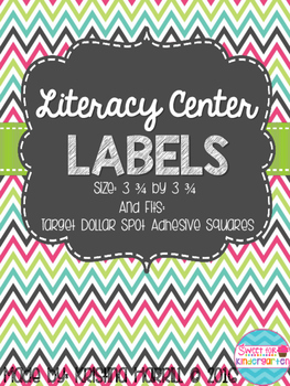 Chalkboard Literacy Center Labels