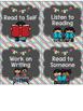 Chalkboard Literacy Center Labels