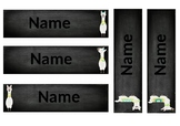 Chalkboard Llama Name Labels (EDITABLE)