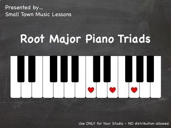 JPG = Major Root Triads (21x - some enharmonic) (piano chalkboard)