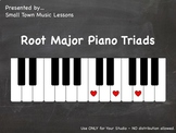 Piano Chalkboard - Major Root Triads (JPG - 21 pics)