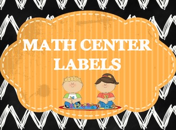 Chalkboard Math Center Labels