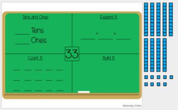 Chalkboard Math: Place Value (Great for Google Classroom!)
