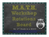 Chalkboard Math Rotation Bulletin Board