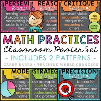 Chalkboard Mathematical Practices Posters
