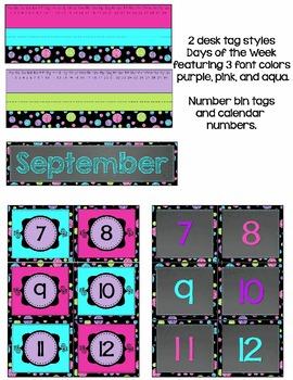 Chalkboard Mini Classroom Decor Kit - {with Editable Files}