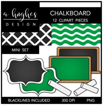 Chalkboard Mini Set {Graphics for Commercial Use}