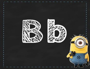 Chalkboard Minion Alphabet/Numbers