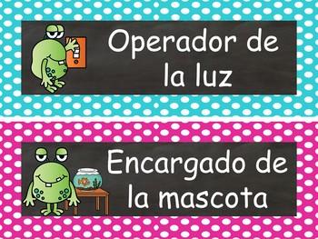 Chalkboard & Monsters Calendar Set  {Spanish Version} EDITABLE