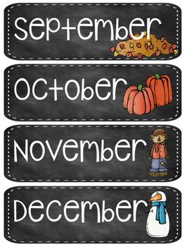 Chalkboard Months