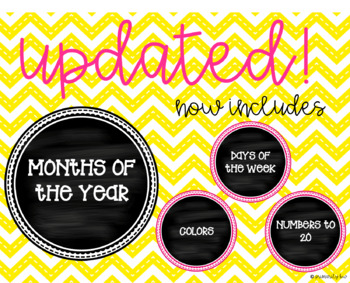 Chalkboard Months of the Year