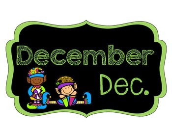 Chalkboard {Months of the Year}