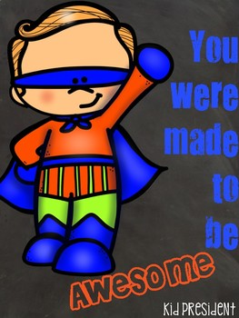 Chalkboard Motivational Posters Superhero Themed Growth Mindset