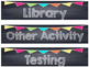 Chalkboard Multi Colored Banner Daily Schedule Cards