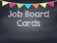 Chalkboard Multi Colored Banner Job Cards