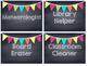 Chalkboard Multi Colored Banner Job Cards