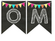 Chalkboard Multi Colored Banner Welcome Banner