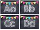 Chalkboard Multi Colored Banner Word Wall Headers
