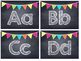 Chalkboard Multi Colored Banner Word Wall Headers