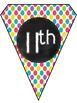 Chalkboard Multicolor Dots Banner Kit!