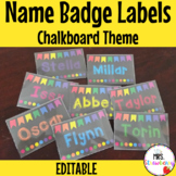 Chalkboard Bunting Name Badge Labels for Plastic Card Holders