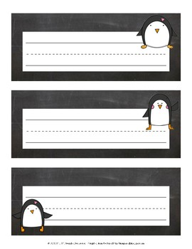 Name Plates {Penguin}