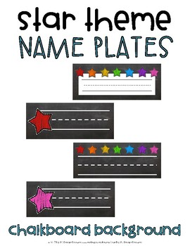 Chalkboard Name Plates {Star Theme}
