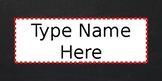Chalkboard Name Plates (editable)