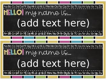 Chalkboard Name Tags {EDITABLE}