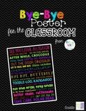 BRIGHTS & BLACK Bye-Bye Poster