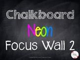 Chalkboard Neon Focus Wall Banner 2