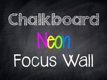 Chalkboard Neon Focus Wall Banner