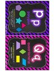 MATH Word Wall Posters and Word Wall Labels, Chalkboard & Neon