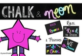 Chalkboard & Neon- Rules and Positives Posters {year2tastic}