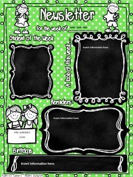 Chalkboard Newsletter