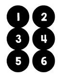 B&W Chalkboard Numbers, #1-36