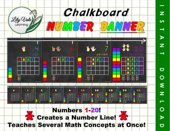 Chalkboard Number Banner from LilyVale Learning