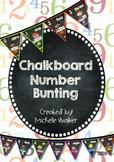 Chalkboard Number Bunting