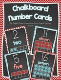 Chalkboard Number Cards 0 - 20