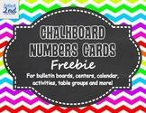 Chalkboard Number Cards {Editable}