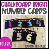 Chalkboard Number Cards {FREEBIE}