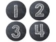 Chalkboard Number Circles {small & large}