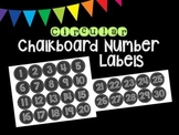 Chalkboard Number Labels (Circular)