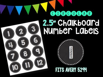Chalkboard Number Labels (Circular) - Avery 5294