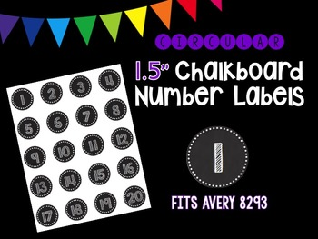 Chalkboard Number Labels (Circular) - Avery 8293