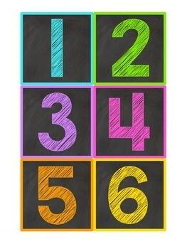 Chalkboard Number & Letter Labels