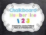 Chalkboard Number Line 0-20