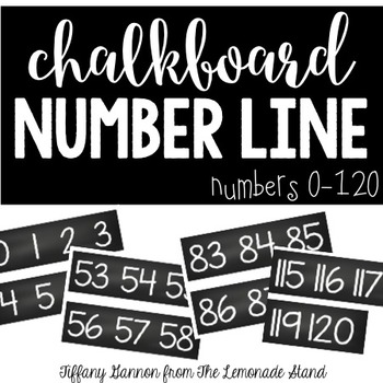 Chalkboard Number Line {Numbers 0-120}